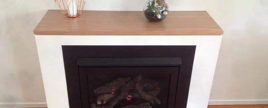 Half Height Fireplace Blackbutt Mantle Adrian O Brien